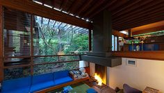 Ray Kappe's 1967 Pacific Palisades home remains a landmark of natural modernism...photo(s) do not do this place justice...