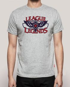 League of Legends gaming tshirt for mens fashion letters printed tee-