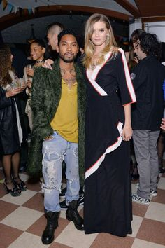 "See the most fashionable looks from the Kenzo red carpet premiere of ""Snowbird"" here: Miguel & Abby Lee Kershaw in Kenzo"