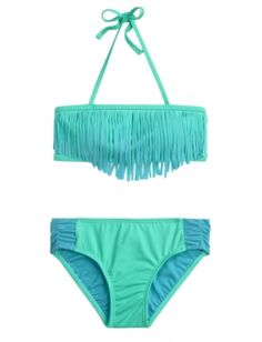 Ombre Fringe Bikini Swimsuit | Justice