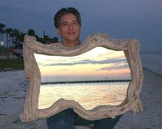 driftwood mirror frame by toni