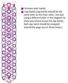 17 best rainbow loom images on pinterest rainbow loom patterns rh pinterest com Rainbow Loom Template Print Out rainbow loom diagrams to print