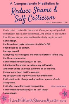 Healing Shame and Self-Criticism. Self Development Positive Thinking Affirmations. If you don't know where to start with Personal Development, here are various beginner guides to get you started. Affirmations Positives, Daily Affirmations, Affirmations For Women, Positive Affirmations For Anxiety, Morning Affirmations, Mantras For Anxiety, Self Esteem Affirmations, Positive Thoughts Quotes, Anxiety Coping Skills