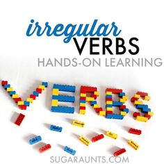 Irregular Verb Activity with LEGOS for Second Grade