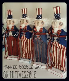 """It's """"Yankee Doodle Dandy"""" time at Grimitives on Etsy 2016!!  Love all of Kaf's creations ~♥~"""