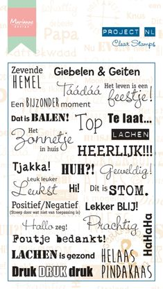 Pl1507 Project NL - Emoties - Project NL clear stamps - Project NL - Hobbynu.nl