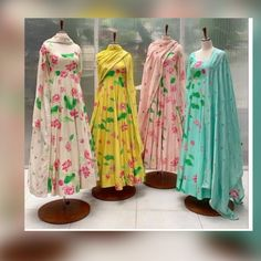 Indian Gowns Dresses, Indian Fashion Dresses, Indian Designer Outfits, Indian Outfits, Brocade Dresses, Asian Fashion, Fashion Outfits, Fashion Trends, Long Dress Design