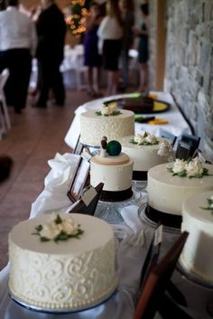 cake buffet - probably better than a tiered cake since its a dessert buffet