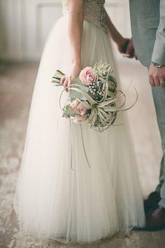 Grey and dusty pink wedding  bouquet. Wedding inspiration. #weddingbouquet #weddingflowers #flowers #eeddinginspiration #bride