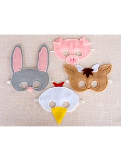Farm Animal Mask Set by Mahalo on Gilt I think I can make these