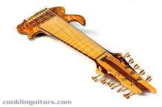 Hand Made Bass Guitars | Custom 10 String Bass Spalted Maple Yellowheart Purpleheart 1