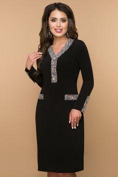Демисезонные и теплые зимние женские платья черные миди повседневного d6a971f4d6a95