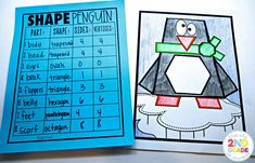 Students color these cute little penguins while describing the shapes they see!