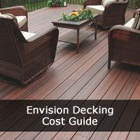 Our Envision Decking Costs and Prices Guide for the Distinction, EverGrain, Inspiration, Expression, Ridge Premium styles for your home decking installation.
