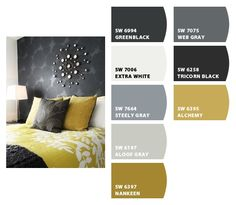 Bedroom: Paint colors from Chip It! by Sherwin-Williams