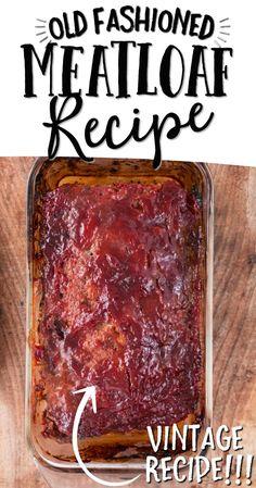 Classic Meatloaf Recipe, Good Meatloaf Recipe, Best Meatloaf, Meatloaf Recipes, Classic Recipe, Italian Meatloaf, Mince Recipes, Cooking Recipes, Sausage Recipes
