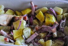 Cartofi la cuptor cu bacon și ceapă - rețetă rapidă Potato Salad, Bacon, Potatoes, Vegetables, Ethnic Recipes, Food, Potato, Essen, Vegetable Recipes