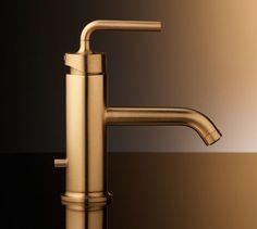 Gold brushet faucet