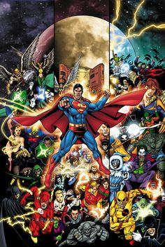 Justice League art by George Perez                                                                                                                                                                                 Mais