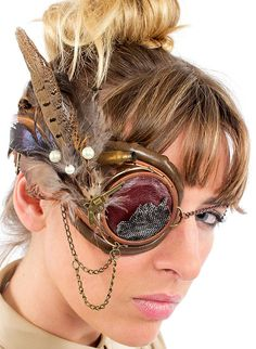 Welcome to the World of Steampunk Imagine a high-tech world where the machines were powered by steam and clockwork mechanisms replaced electronics. Steampunk Pirate, Steampunk Goggles, Steampunk Costume, Steampunk Diy, Steampunk Clothing, Steampunk Fashion, Steampunk Accessories, Fashion Accessories, Larp