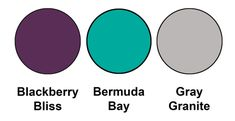 Colour combination mixing the returning Blackberry Bliss with our existing Bermuda Bay and new Gray Granite, from Stampin Up!
