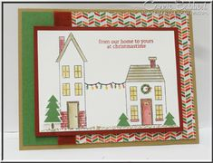 Holiday Home, from our home to yours, Christmas card, Stampin' Up!, #stampinup, Nordic Noel, Connie Babbert, www.inkspiredtreasures.com