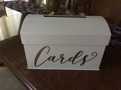 Gift Card Box with gold lettering