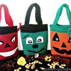 Free Crochet Pattern: Halloween Bags