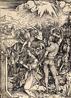 Albrecht Dürer, The Martyrdom of St. Catherine of Alexandria (1496 - 1497) on ArtStack #albrecht-durer #art