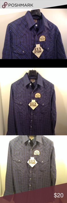 0b0e20df Shop Men's Ely Cattleman Blue size M Shirts at a discounted price at  Poshmark. Description: Ely Cattleman Button Down Mens : Medium Color:  blue/dark blue ...