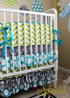 Ruffled Crib Skirt Tutorial {Nursery Bedding Reveal} | Positively Splendid {Crafts, Sewing, Recipes and Home Decor}
