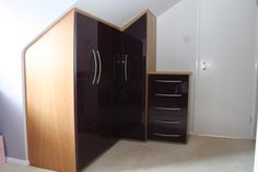 wardrobe solutions for loft conversion Loft Conversion Wardrobes, Wardrobe Solutions, Fitted Wardrobes, Stairways, Storage Solutions, Armoire, Tall Cabinet Storage, Bedroom, Normandy