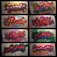 Graffiti T-Shirt Samples from a Bat Mitzvah in south florida.  http://cocktailhourentertainment.com.  Bar Mitzvahs, Bat Mitzvahs, and corporate events.   Cocktail Hour Entertainment Inc. 954-612-7431
