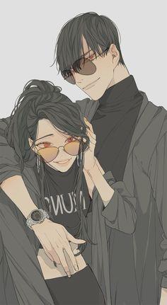 Couple Anime Manga, Anime Siblings, M Anime, Anime Love Couple, Anime Couples Drawings, Anime Couples Manga, Cute Anime Couples, Romantic Anime Couples, Couple Cartoon