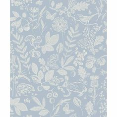 Shop for Arthouse Country Folk Floral Blue Wallpaper at wilko - where we offer a range of home and leisure goods at great prices. Blue Butterfly Wallpaper, Blue Floral Wallpaper, Feature Wallpaper, Wallpaper Roll, Wallpaper Ideas, Bedroom Wallpaper Country, Cottage Wallpaper, Buy Wallpaper Online, Design Repeats