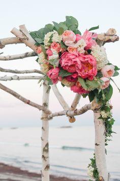 #WeddingFlowers | #Peony | See the wedding on #SMP Weddings: http://www.stylemepretty.com/2013/10/08/narragansett-rhode-island-wedding-from-leila-brewster/  Leila Brewster Photography