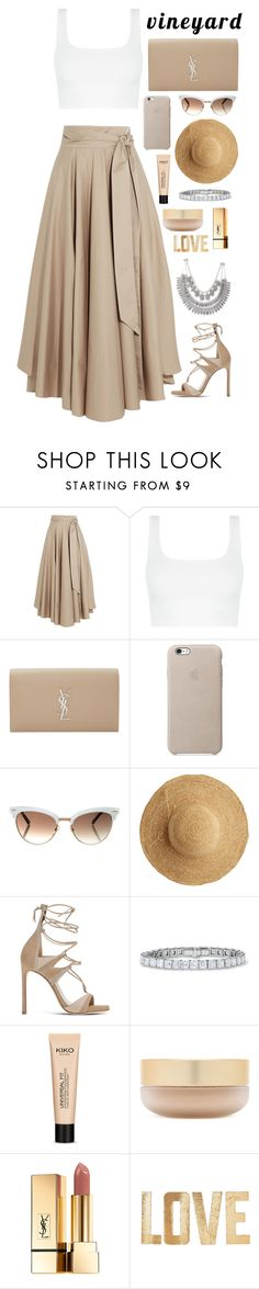 """Untitled #350"" by savkcollins ❤ liked on Polyvore featuring TIBI, Yves Saint Laurent, Flora Bella, Stuart Weitzman, Eve Lom, PBteen, napa, winerywedding, bestdressedguest and vineyardwedding"