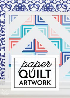 Learn how to make really easy and inexpensive artwork for your walls with this Paper Quilt project! Paper Art Projects, Cool Art Projects, Diy Home Decor Projects, Diy Artwork, Diy Wall Art, Diy Crafts Hacks, Diy Crafts To Sell, Paper Quilt, Diy Crafts For Adults