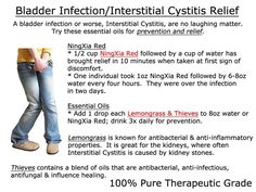 , Young Living Essential Oils: Bladder Infection Interstitial Cystitis www. , Young Living Essential Oils: Bladder Infection Interstitial Cystitis www. Essential Oils For Uti, Thieves Essential Oil, Therapeutic Grade Essential Oils, Young Living Essential Oils, Essential Oil Blends, Interstitial Cystitis, Living Essentials, Young Living Oils, At Least
