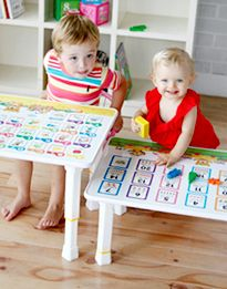 Charming Kids Writing Table   Hello Bear ABC This Portable Folding Table Provides  Convenience And Comfort Anywhere