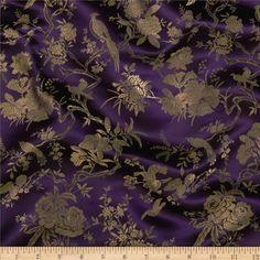 Fabric: Chinese Brocade Birds in a Tree Plum