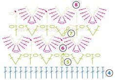Cómo tejer mitones en punto cocodrilo o escamas  a crochet / Crochet crocodile stitch mittens