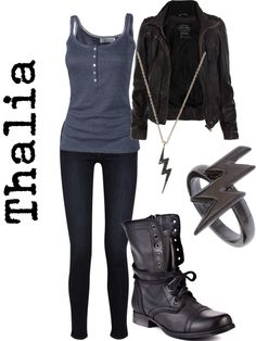 Almost like Thalia from Percy Jackson Teen Fashion Outfits, Girl Outfits, Womens Fashion, Percy Jackson Outfits, Fandom Fashion, Fandom Outfits, Casual Cosplay, Themed Outfits, Inspired Outfits