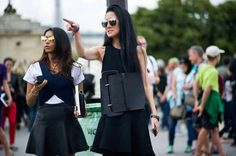 Street Style: Strange Days at Paris Couture - Vera Wang Couture Week, Haute Couture Fashion, Cool Street Fashion, Street Style, All About Fashion, Fashion History, Vera Wang, Fashion Show, Paris Fashion