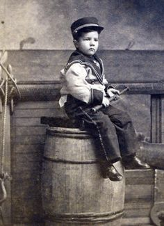 Young Sailor with Barrel and Rope Webster Mass   eBay