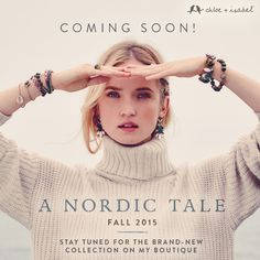 This is big! Our Fall 2015 collection arrives September 1st! Browse here www.chloeandisabel.com/boutique/elena