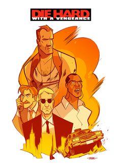 Die Hard with a Vengeance - movie poster - Thobias Daneluz