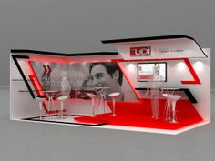 UDI - 2013 by Wilmer Ovalle, via Behance Exhibition Stall, Exhibition Stand Design, Display Design, Wall Design, Stage Design, Event Design, Stand Feria, Point Of Purchase, Retail Design