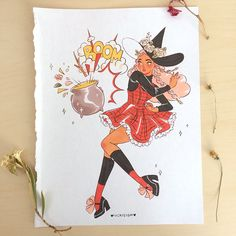 I've restocked my online store! Tons of NEW prints, zines, originals and stickers available including all Inktober merch! vickisigh.bigcartel.com