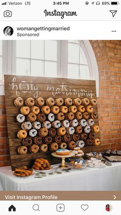 the donut wall is such a unique idea, never seen it before!!